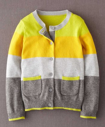 Yellow Stripe Cardigan - Infant, Toddler & Girls