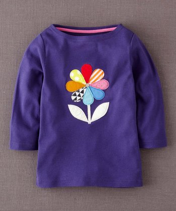 Purple Kaleidoscope Appliqué Tee - Girls