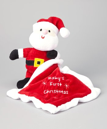 Snuggle Santa Toy & 'Baby's First Christmas' Blanket