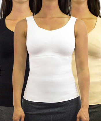 Black, White & Nude Shaping Camisole Set