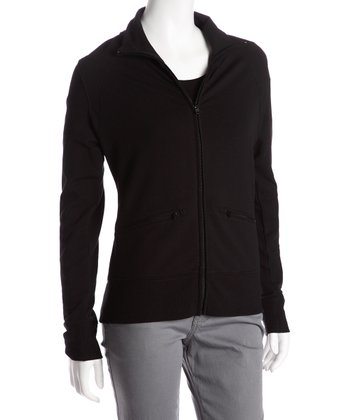 Black Riah Zip-Up Jacket