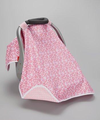 Posh Comforts Pink Leopard Car Seat Canopy