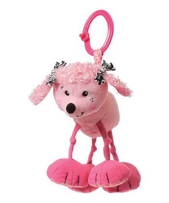 Pink Lola the Poodle Rattling Jittery Plush Toy