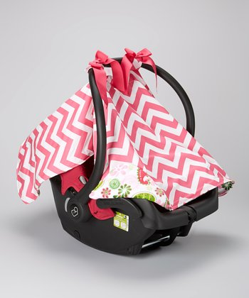 Caught Ya Lookin' Pink Zigzag & Paisley Car Seat Cover