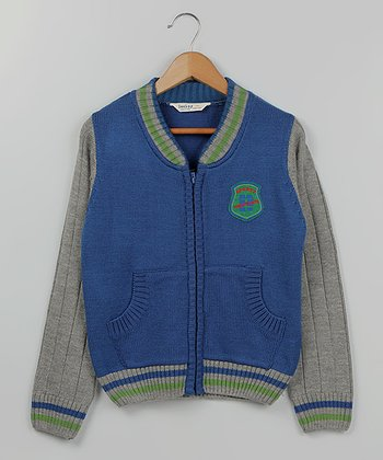Blue & Green 'Sporty' Zip-Up Jacket - Infant, Toddler & Boys