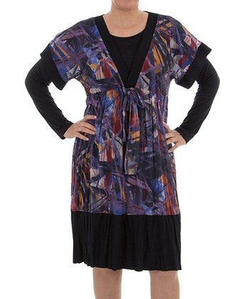 Purple Layered Dress - Plus
