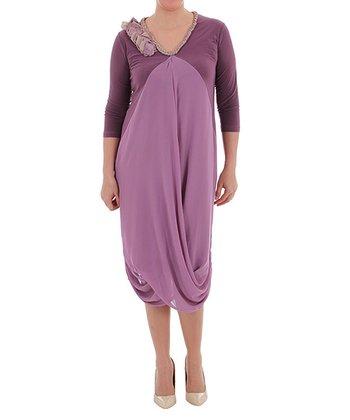 Plum Tulip Dress - Plus