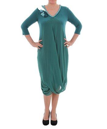 Green Tulip Dress - Plus