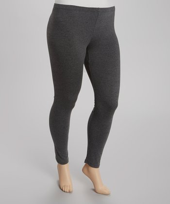 Charcoal Gray Leggings - Plus