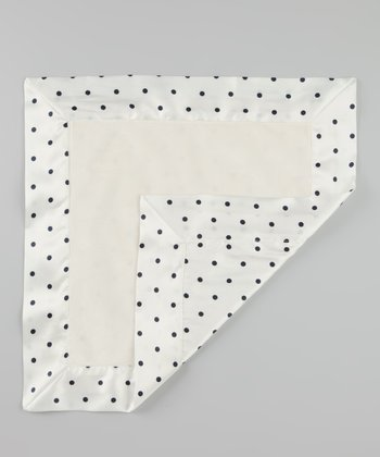 Cream Velvet Pin Dot Deluxe Satin Lovey