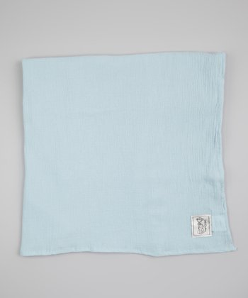 Blue Muslin Receiving Blanket