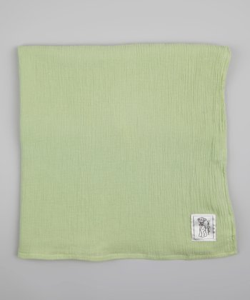 Celadon Muslin Receiving Blanket