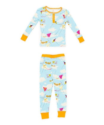 Light Blue Kite Pajama Set - Toddler & Girls