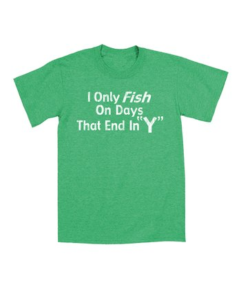 Heather Kelly Green 'Fish on Days That End in Y' Tee - Men