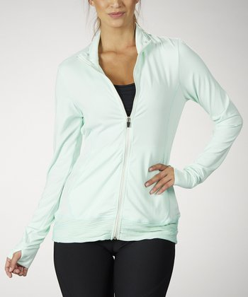 Cool Mint Wave Track Jacket - Women