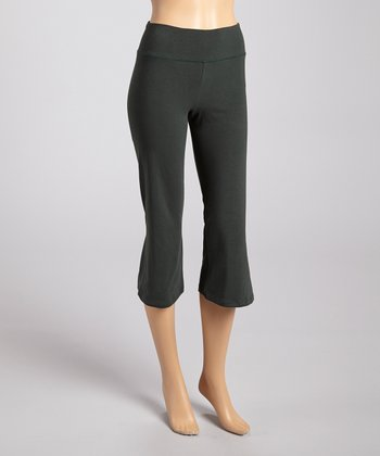 Forest Organic Crop Yoga Leggings