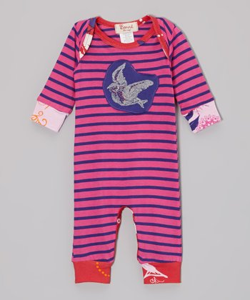 Pink Stripe Sweet Sparrow Playsuit - Infant