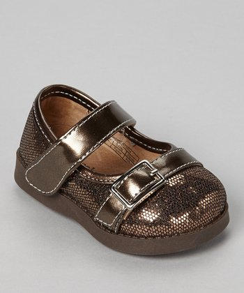 Sneak A' Roos Brown Sparkle Squeaker Mary Jane
