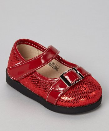 Sneak A' Roos Ruby Sparkle Squeaker Mary Jane