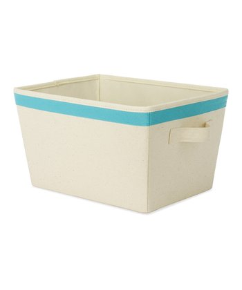 Blue Small Tote Storage Bin