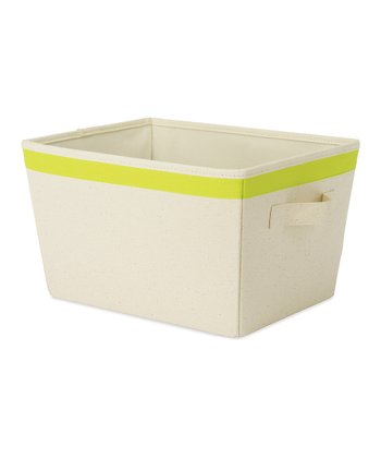 Green Small Tote Storage Bin