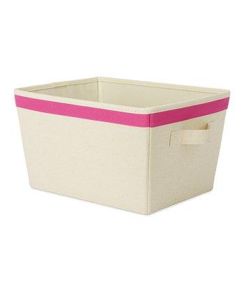 Pink Small Tote Storage Bin