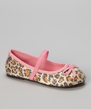 Light Pink Leopard Ballet Flat
