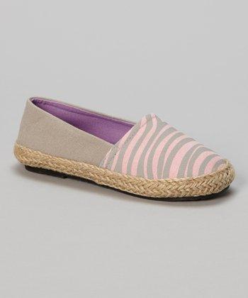 Chatties Gray & Pink Zebra Flat