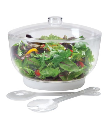 Thermal Ice Bowl & Salad Server Set