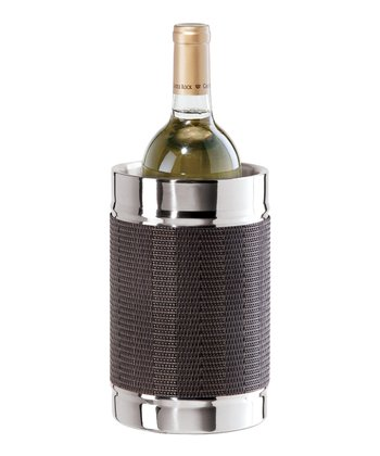 Black & Brown Double-Wall Wine Cooler