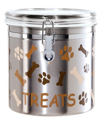 Stainless Steel 130-Oz. Bone & Paw Canister
