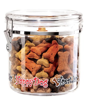 Clear 130-Oz. 'Happy Dog' Canister