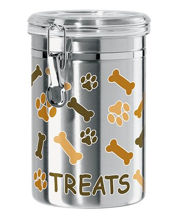 Stainless Steel 51-Oz. Bone & Paw Canister