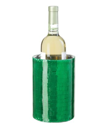 Green Double-Wall Wine Cooler