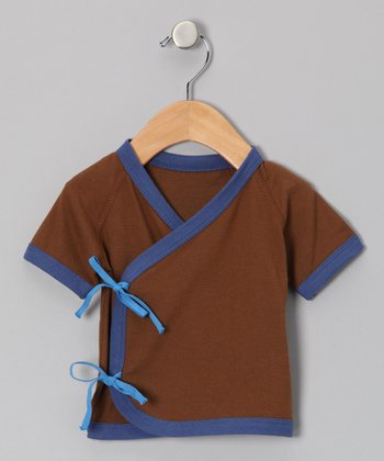 Mocha & Blue Wrap Tee - Infant