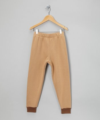 LAPSAKY Tan & Mocha Organic Sweatpants - Toddler & Kids