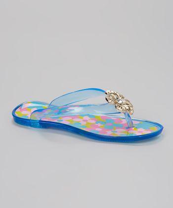 Chatties Turquoise Flower Charm Sandal
