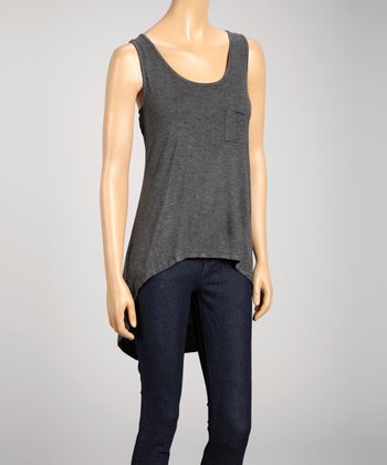 Charcoal Hi-Low Sleeveless Tank