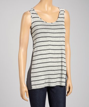 Heather Gray & Charcoal Panel Swing Tank