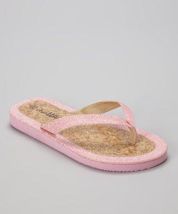 Chatties Light Pink Glitter Sandal