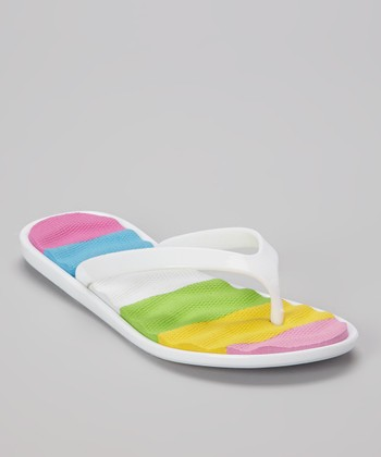 Chatties White Cushioned Flip-Flop