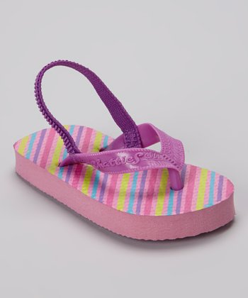 Chatties Light Pink Stripe Flip-Flop