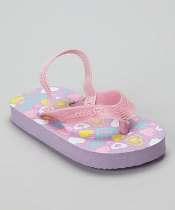 Chatties Lilac Heart Flip-Flop