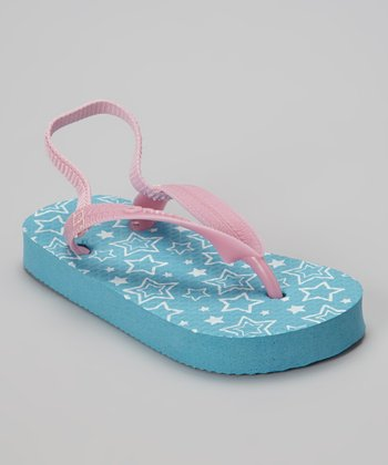 Chatties Turquoise Star Flip-Flop