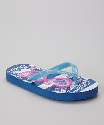 Blue Heart Sunglasses Flip-Flop