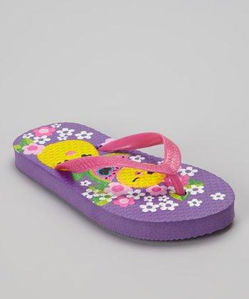 Chatties Purple Fruit Flip-Flop