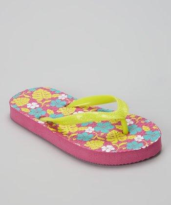 Chatties Pink Tropical Flip-Flop