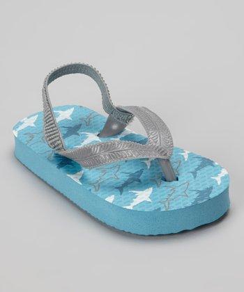 Chatties Blue Shark Flip-Flop
