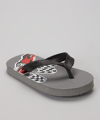 Empire Gray Racecar Flip-Flop