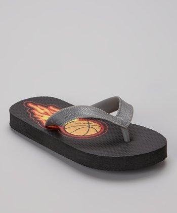 Empire Black Basketball Flip-Flop